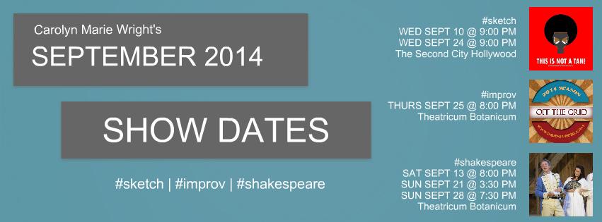 September Show Dates 2014